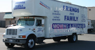Friends and Family moving truck